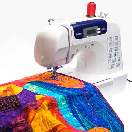 Brother Cs40i Sewing Machine Review Tools For Quilting Fascinating How To Quilt With A Sewing Machine For Beginners